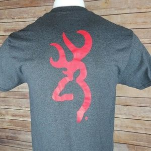 Browning Buckmark Red Logo Graphic T Shirt